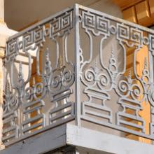 découverte du patrimoine saint-lousien, balcon en fer forgé